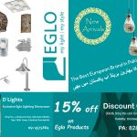 15% off on all Eglo Products